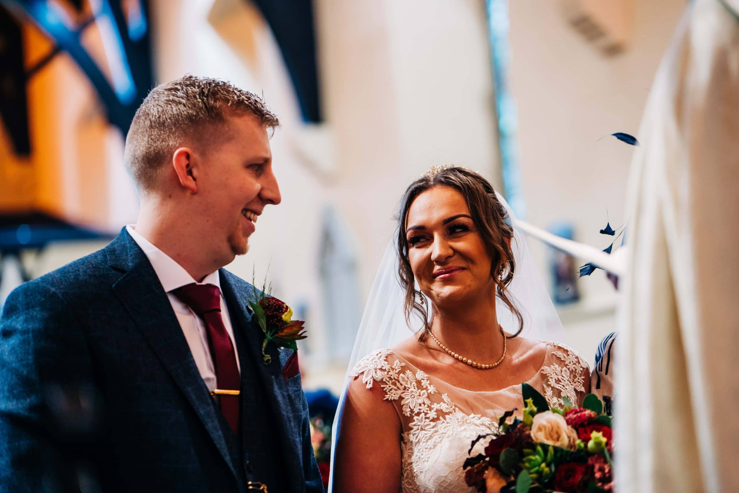 bride and groom, church wedding, derbyshire wedding photographer
