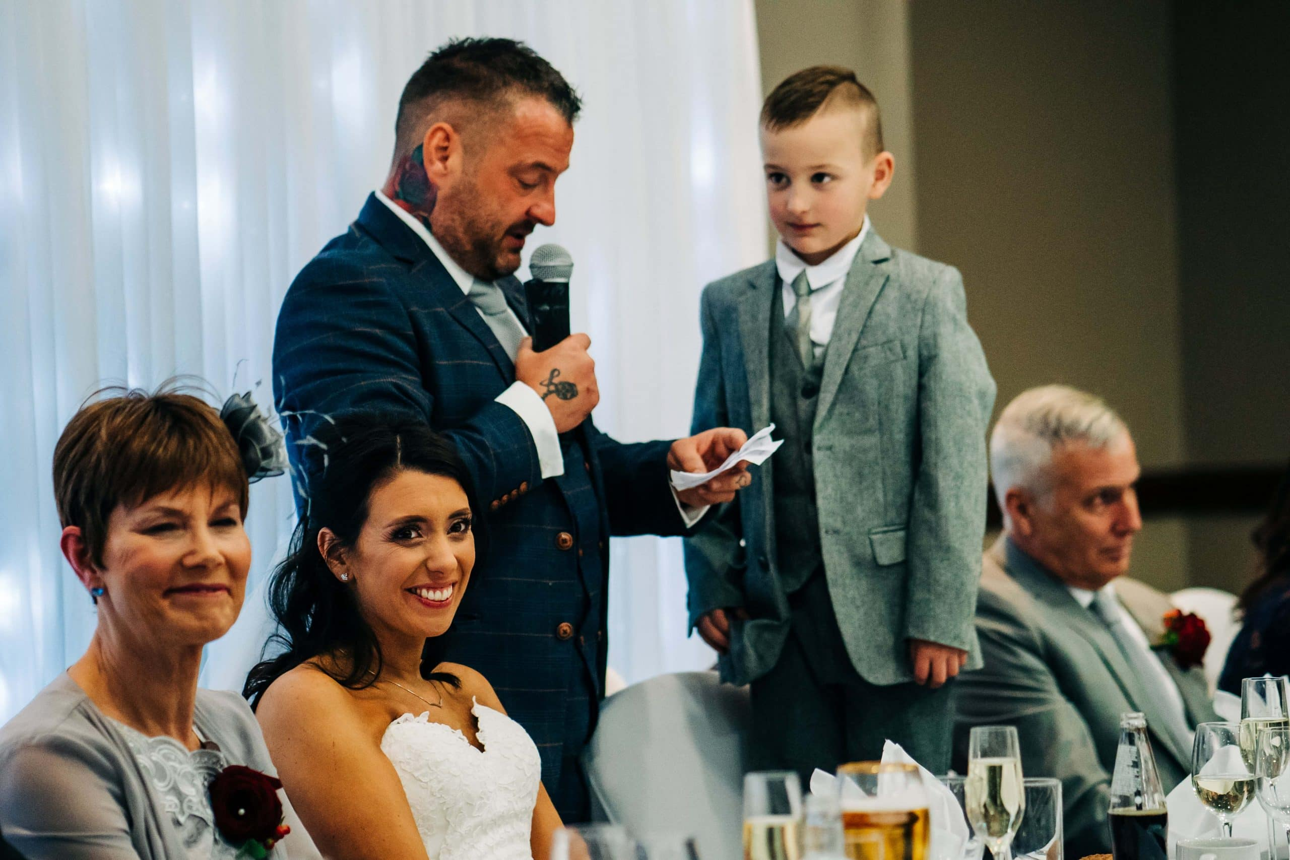 Family wedding, sheffield wedding day, Grooms Speech