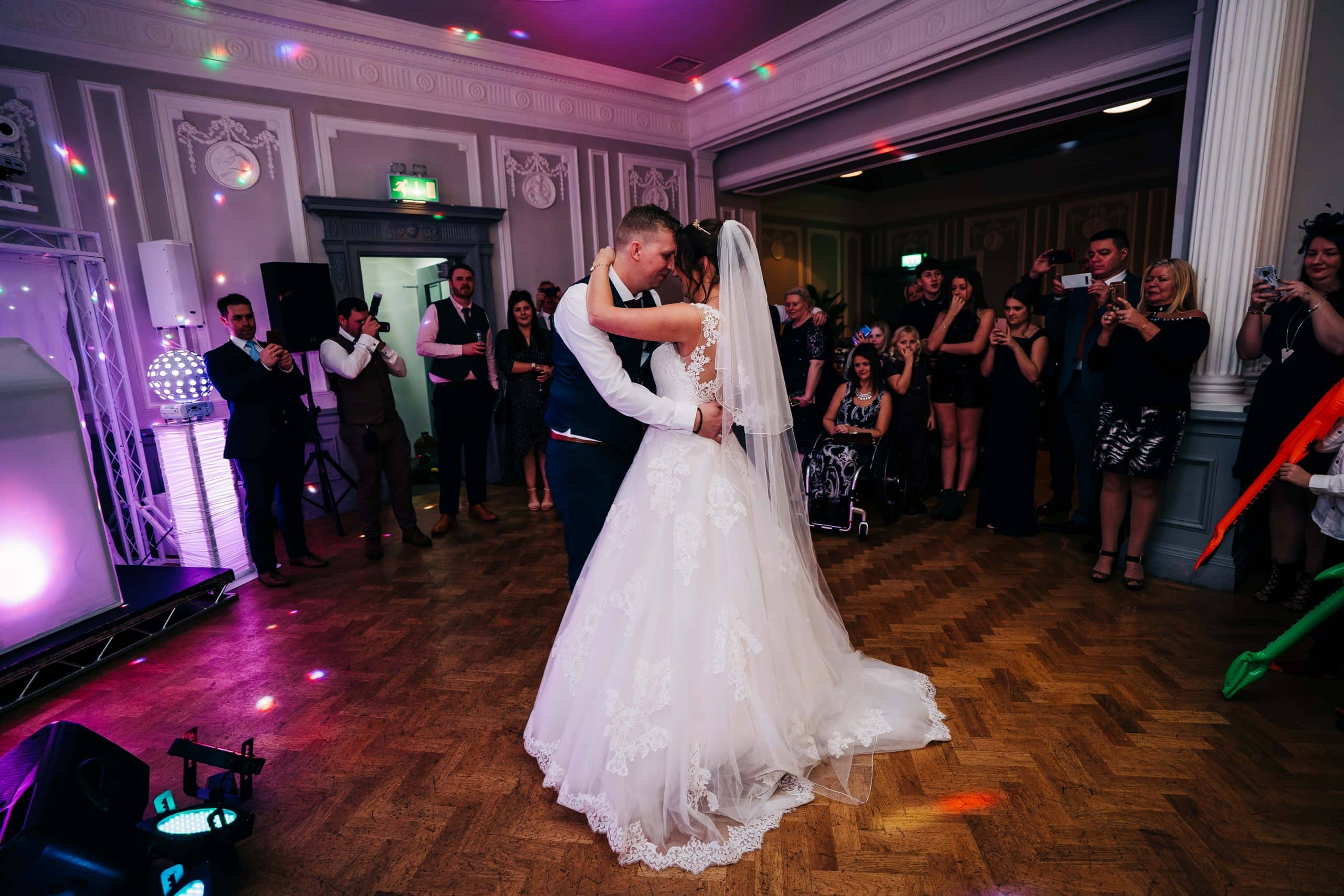 first wedding dance, wedding party, derby weddings