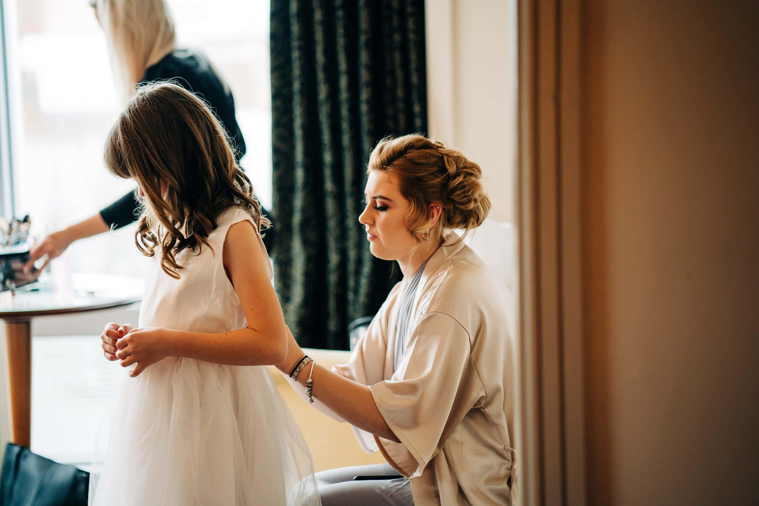 Bridal Prep, Sheffield Wedding, Hotel, Daughter, bridal gowns