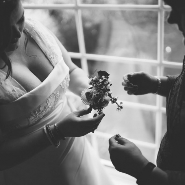 bride flowers, derby wedding, candid photography