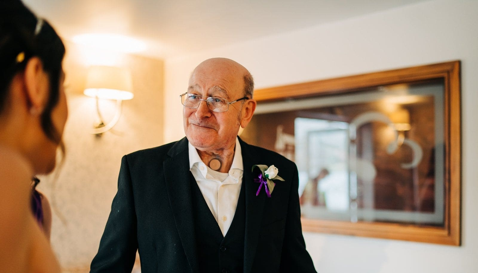 father of the bride, first look, derby weddings